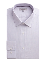 Alexandre Savile Row Dobby Weave Tailored Fit Formal Shirt Mauve