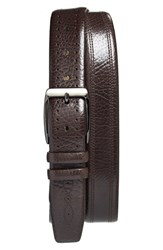 Men's Big And Tall Mezlan 'Perseo' Leather Belt Brown