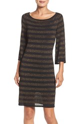 Trina Trina Turk Women's Sparkle Stripe Sweater Dress