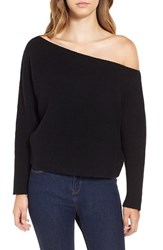 J.O.A. Women's Off The Shoulder Crop Sweater