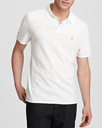 John Varvatos Usa Peace Polo Slim Fit Salt White