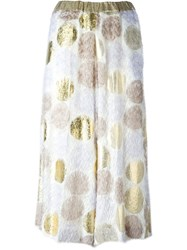 Antonio Marras Printed Midi Skirt White