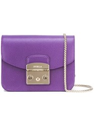 Furla 'Metropolis' Crossbody Bag Pink Purple
