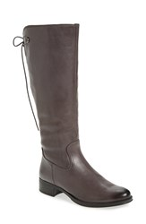 Bussola Women's 'Spring' Tall Boot Dark Grey Leather