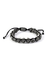 King Baby Studio Black Macrame Rose Bracelet