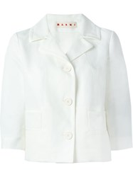Marni Cropped Jacket White