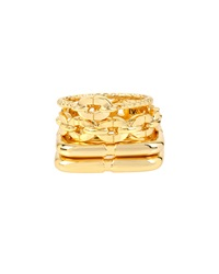 Chain Link And Square Shaped Rings Set Of 4 Diane Von Furstenberg