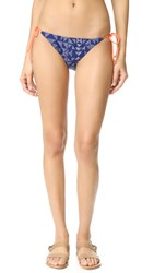 Splendid Deckhouse Tie Side Bikini Bottoms Indigo