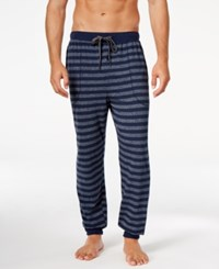 Kenneth Cole Reaction Men's Striped Pajama Pants Navy