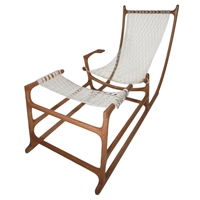 Stunning And Extremely Rare 1970'S American Craft Hammock Chair At