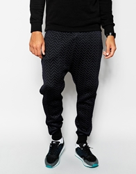 Blood Brother Sweatpants With Quilt Detail Black