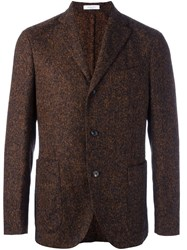 Boglioli Three Button Blazer Brown