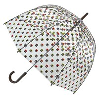 Orla Kiely By Fulton Birdcage Floral Umbrella Clear Multi