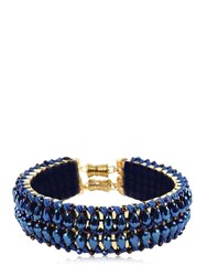 Only Child London Blue Flash Crystal Collar