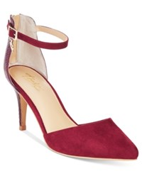 Thalia Sodi Vanesssa Pointed Toe Pumps Only At Macy's Women's Shoes Elderberry Snake