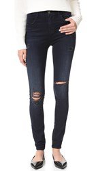 J Brand Maria High Rise Skinny Jeans Destructed Sanctity
