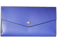 Lodis Blair Amanda Continental Clutch Violet Cobalt Clutch Handbags Blue