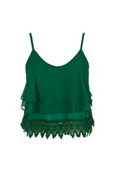 Lace Trim Cami By Glamorous Green