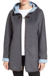 Ellen Tracy Women's Double Face A Line Jacket Smoke