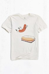 Urban Outfitters Happy Hot Dog Tee Cream