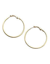 Lord And Taylor 18Kt Gold Over Sterling Silver Hoop Earrings