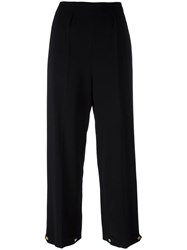 Paul Smith Cady Button Cuff Trousers Black