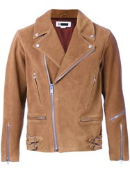 H Beauty And Youth. Short Biker Jacket Brown