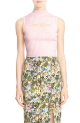 Cushnie Et Ochs Women's Cutout Rib Knit Crop Top