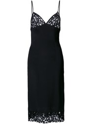 Dressedundressed Lace Detailed Slip Dress Black