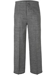 Pt01 Straight Tailored Cropped Trousers Grey