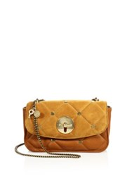 See By Chloe Lois Quilted Leather And Suede Chain Crossbody Bag Hazel