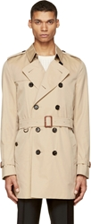 Burberry Beige Britton Trench Coat