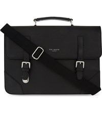 Ted Baker Cross Grain Leather Satchel Black