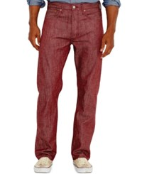 Levi's 501 Original Shrink To Fit Jeans Tibitian Red Crispy Neppy