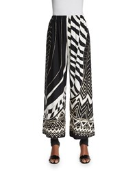 Caroline Rose Animal Instinct Wide Leg Pants Women's