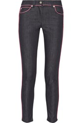 Moschino Mid Rise Skinny Jeans Blue