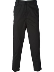 Ejxiii Straight Leg Cropped Trousers Black
