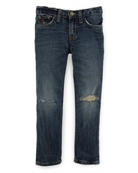Ralph Lauren Distressed Cotton Skinny Jeans Blue