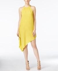 Xoxo Juniors' Cascade Handkerchief Hem Dress Lemon