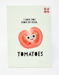 Paperchase Nice Slice A4 Tomatoes Exercise Book Multi
