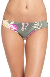Roxy Women's 'Castaway' Full Coverage Bikini Bottoms Floral Duck Green