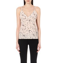 The Kooples Swallow Print Silk Camisole Nude