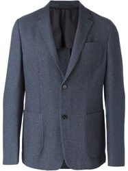 Ermenegildo Zegna Patch Pocket Blazer Blue