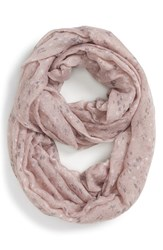 Junior Women's Bp. Speckled Floral Infinity Scarf Purple Mauve