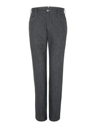 Chester Barrie Men's 5 Pocket Tailored Wool Jeans Charcoal