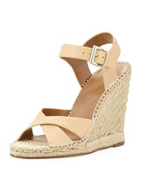 Lena Leather Espadrille Sandal Nude Joie Brown