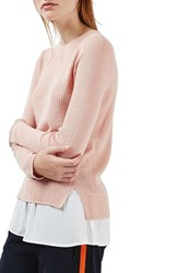 Topshop Women's Ribbed Layered Sweater