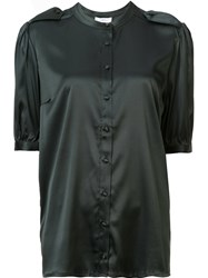 Anine Bing Half Sleeve Shirt Green