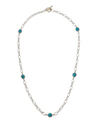 Slane Long Nuage Station Necklace W Turquoise