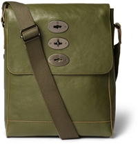 Mulberry Brynmore Leather Messenger Bag Green